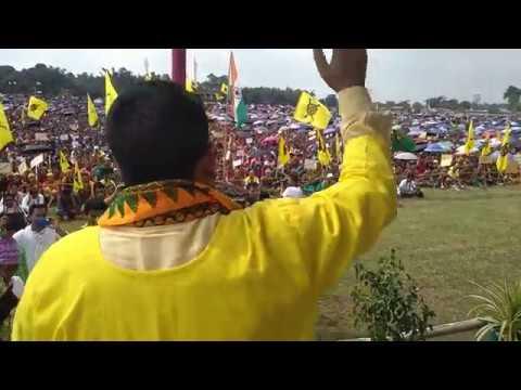 Pramod Boro President ABSU 23rd Sept. People's Rally For Bodoland