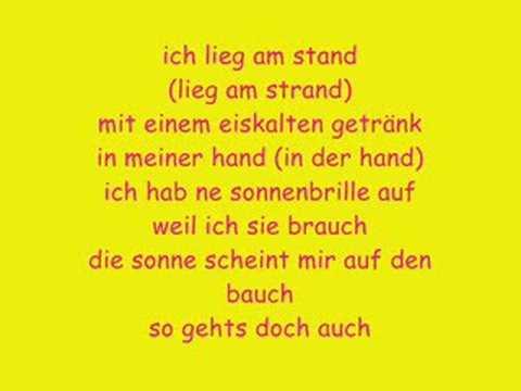 Farin Urlaub - Am Strand (mit Lyrics)
