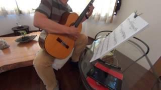 ギター練習の記録用として「風の丘~海の見える町」を弾いてみました。