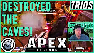 DESTROYED THE CAVES! VISS w/ TannerSlays and Caliverse APEX LEGENDS SEASON 5