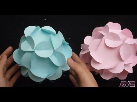 Paper ball flower ukrandiffusion extremely easy way to make a 3d paper flower ball tutorial youtube mightylinksfo