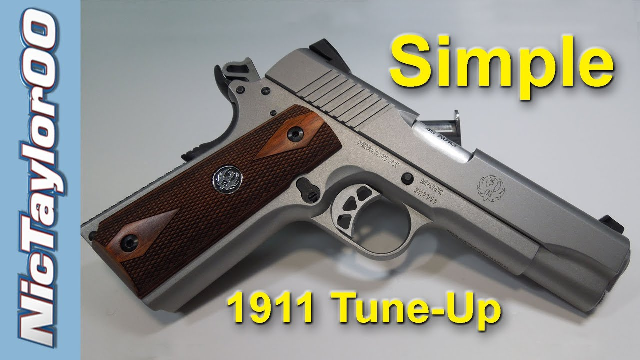 New 1911 Frame & Slide Adjustment - Super Fast Break In