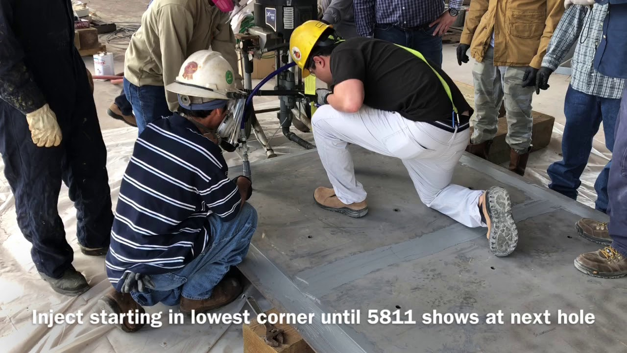 Belzona Cold Plate Bonding With 1121 And 5811 Injection - For Deck Repair -  Training Video