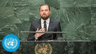 leonardo dicaprio un messenger of peace at the opening of climate summit 2014