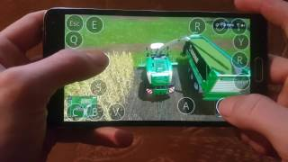Farming simulator 2017 multiplayer test on android Samsung galaxy note4