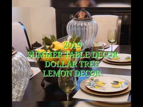 SUMMER TABLE DECOR | DOLLAR TREE 🍋 PLATES | 2019