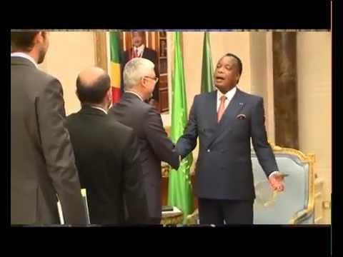 Tête à tête Denis Sassou Nguesso et le Pdg de Total Congo Guy Maurice