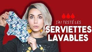 J'AI TESTÉ LES SERVIETTES HYGIÉNIQUES LAVABLES | Coline