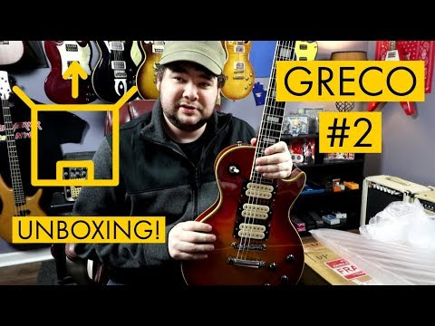 UNBOXING: My New Japanese Guitar: Greco EG-600 Les Paul Custom Copy!