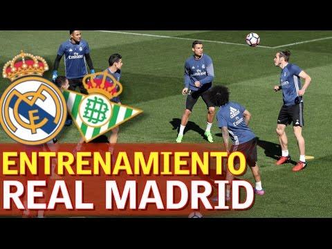 Entrenamiento del Real Madrid previo al partido contra el Betis | Diario AS