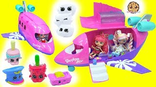 Shopkins Air Jet Airplane with Shoppies Dolls + Exclusives  & Surprise Blind Bags