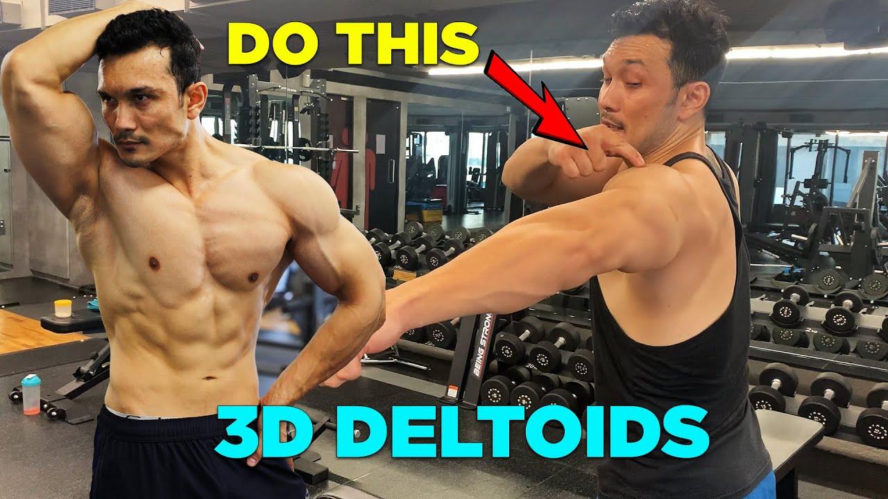 Best Trick for BIG 3D SHOULDERS [DUMBBELLS ONLY]