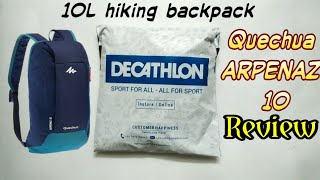Decathlon 10L Hiking backpack review