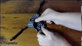 Как завязать галстук на резинке.
