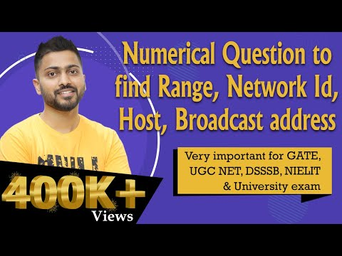How to find Range, Networks, Hosts, Broadcast address from IP address | Computer Networks