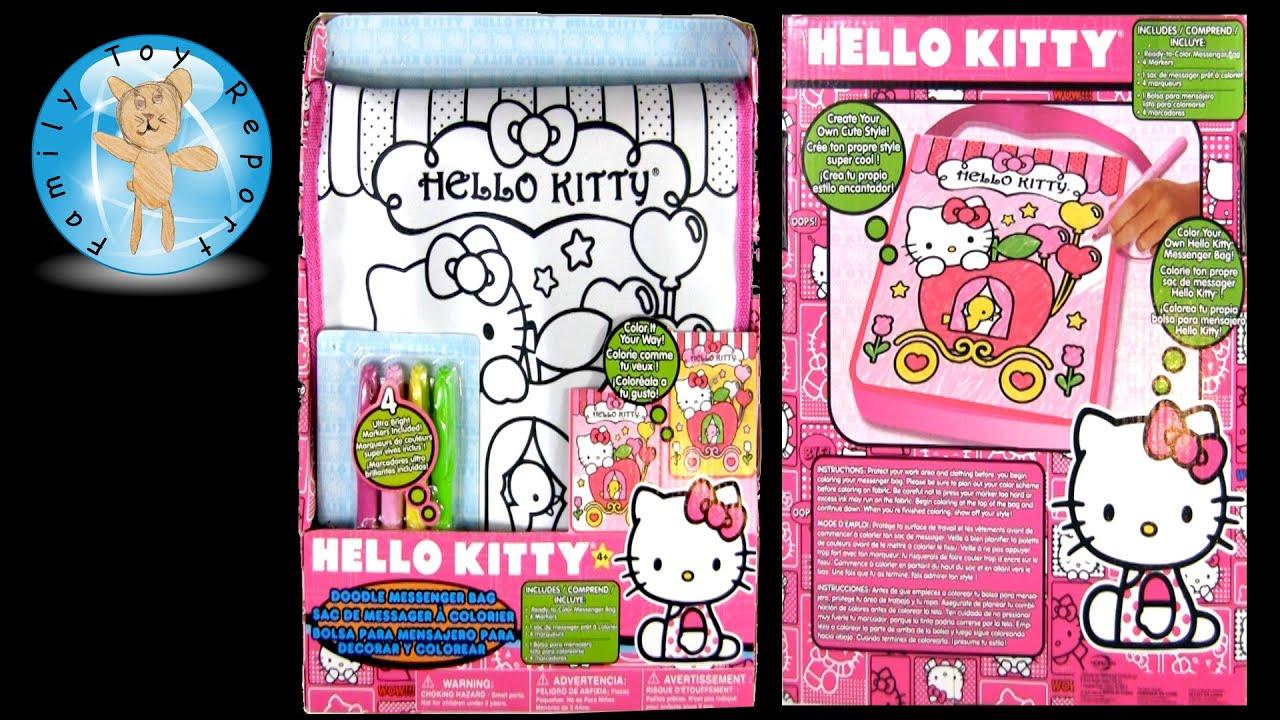 Hello Kitty Doodle Messenger Bag  Coloring bb2c42e9c343c