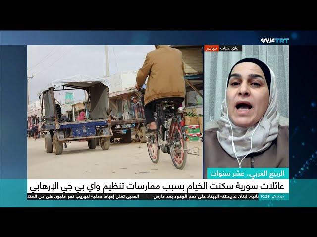 مشاركة د.هالة الغاوي على قناة TRT - الذكرى السنوية العاشرة لثورة الكرامة
