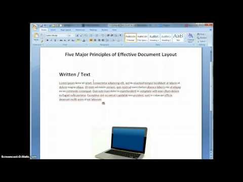 5 PRinciples of Effective Document Design