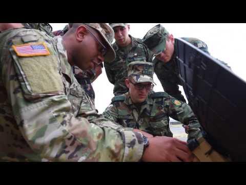 U.S. Army Radio Operator Trains Balkan Military Forces