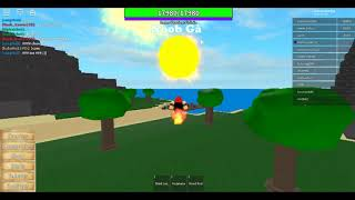 Roblox | Review flare fruit ( mera mera ) skill mới | Noob Gà