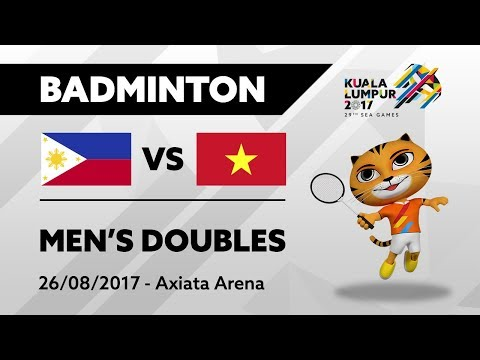 KL2017 29th SEA Games | Badminton - Men's Doubles - PHI 🇵🇭 vs VIE 🇻🇳 | 26/08/2017