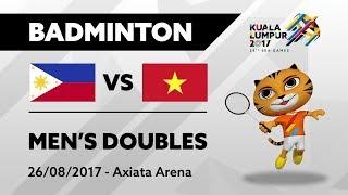 Download Video KL2017 29th SEA Games | Badminton - Men's Doubles - PHI 🇵🇭 vs VIE 🇻🇳 | 26/08/2017 MP3 3GP MP4