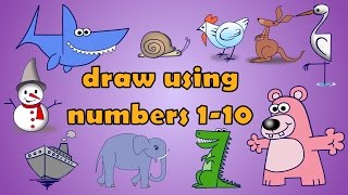 How to Draw using numbers 1 to 10 | Bumfun