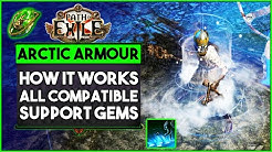 Path Of Exile - Arctic Armour - All Support Gems, How It Works in Builds