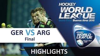 Germany v Argentina Match Highlights - Argentina Men's HWL (2015)