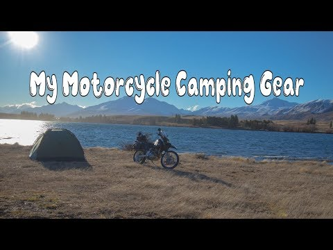 Motorcycle Camping Set Up