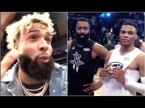 Odell got jokes (at the NBA All Star Game)
