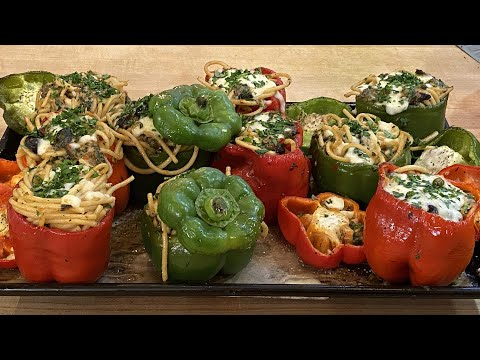 how-to-make-pasta-stuffed-peppers-|-italian-recipes-|-rachael-ray