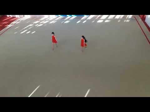 Чир джаз двойка мальчики-девочки  Лебедева Анастасия-Цой Полина