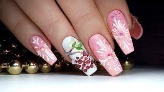 Зимний Дизайн Ногтей Рябина | ТОП удивителные дизайны ногтей