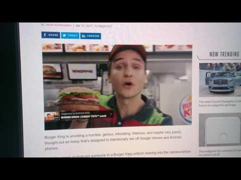 Genius Burger King ad (Google Assistant)