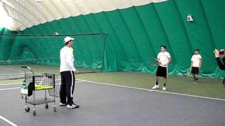 3 Forehand Hand Feed Tennis Drill