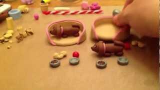 Dachshund Puppy Play Sets In Polymer Clay