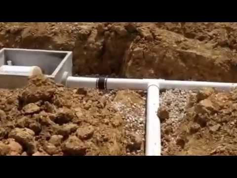 Underground concrete cistern installation overview