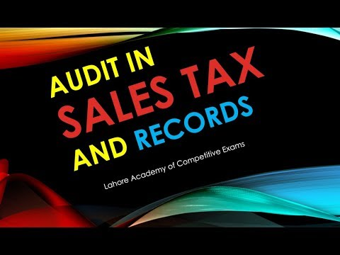 Audit in Sales Tax and Keeping of Record