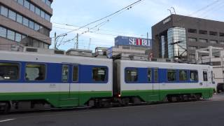 福井鉄道800形越前武生行きと770形急行福井駅前行き