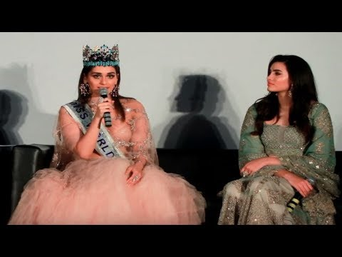Miss World 2017 Manushi Chhillar's q & a with the media