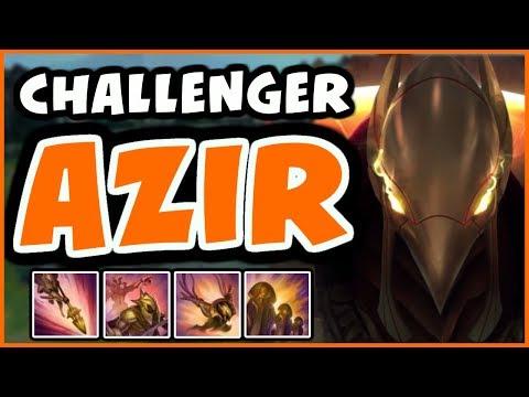 CHALLENGER AZIR | AZIR STILL GOOD AFTER NERFS? - League of Legends