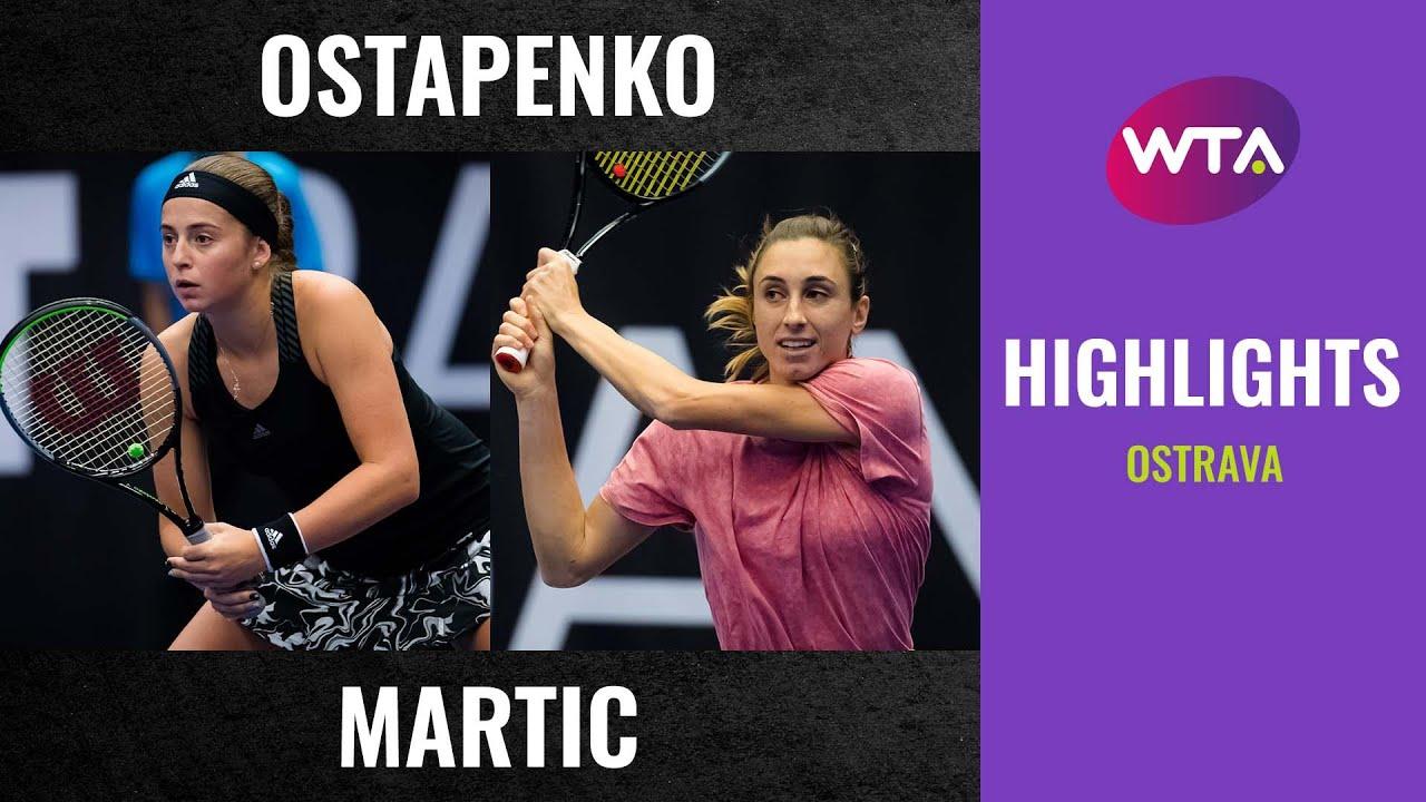 Jelena Ostapenko vs. Petra Martic | 2020 Ostrava First Round | WTA Highlights