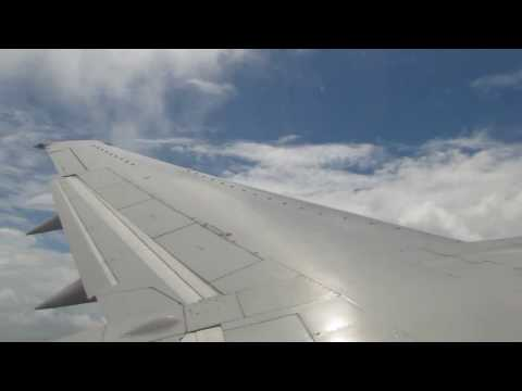 Take off from Cayenne (Rochambeau/Félix Éboué) on Surinam Airways 737-300