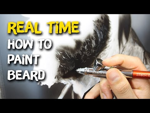 How to painting beard - progress in (Real Time)