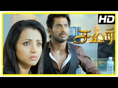 Samar Tamil Movie Scenes | Trisha tries to help Vishal | Vishal feels confused | John Vijay