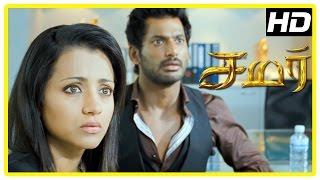Video Samar Tamil Movie Scenes   Trisha tries to help Vishal   Vishal feels confused   John Vijay download MP3, 3GP, MP4, WEBM, AVI, FLV November 2017
