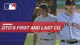 A look at Zito's first and last MLB complete games