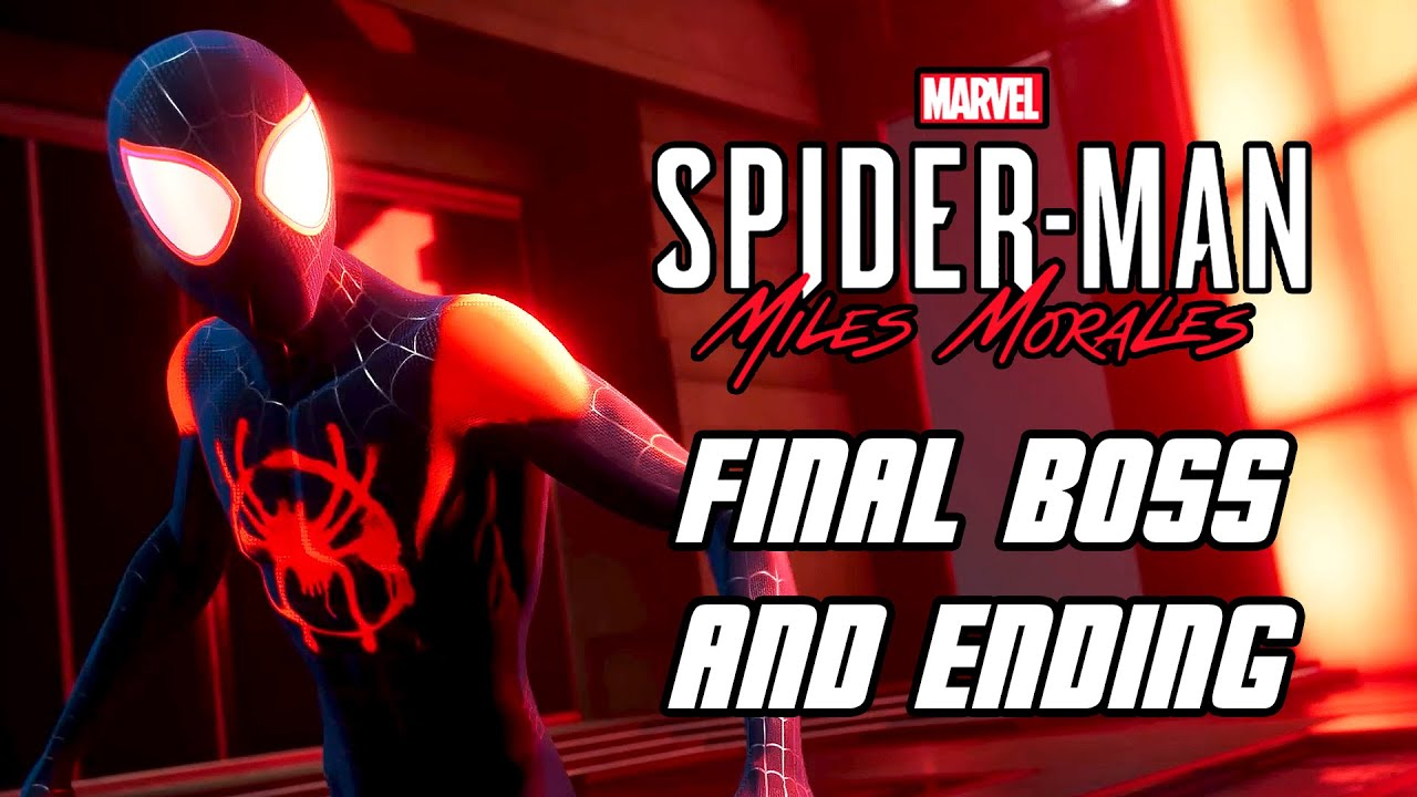 Spider-Man: Miles Morales - Final Boss Fight & ENDING (PS4 PRO)