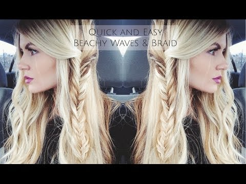 Tuto cheveux : ondulations et fishtail braid
